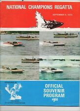 SEPT. 1973 Detroit National Champions Race program, unlimited hydroplanes