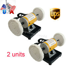 2x US Polisher Polishing Machine Dental Lathe Bench Table Buffer Grinder Jewelry