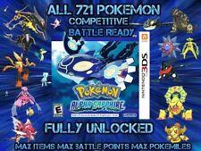 Custom Unlocked Pokemon Alpha Sapphire - All 721 Shiny Pokemon, All Items!