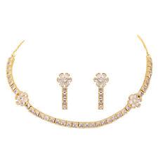 Jwellmart Indian Bollywood Sparkling Rhinestone AD CZ Fashion Necklace Earrings