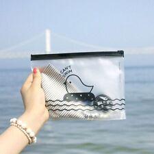 KAWAII Cartoon Chicken Clear Pen Bag Holder Cosmetic Storage Pencil Case Purses