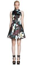 Cue BNWT Abstract Floral Print Satin Dress Sz 8