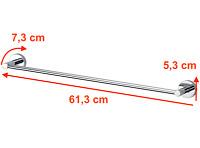 Haceka IXI Handtuchhalter 60cm 100/% Edelstahl Rostfrei Handtuchstange