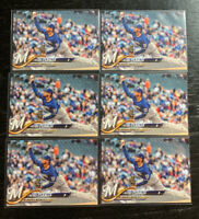 Freddy Peralta RC Lot(6) 2018 Topps US39 Milwaukee Brewers