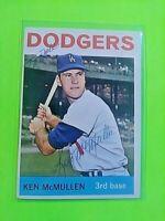 1964 TOPPS Signed Autograph #214 Ken McMullen Dodgers