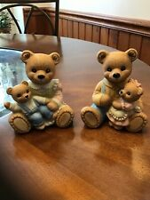 2 Vintage Homco Mother Father & babies # 1444 porcelain figurines / Grandparents