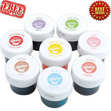 Wilton Icing Colors Set Of 8 Cake Decorating Fondant Baking Gels Food Frosting