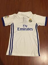 White Real Madrid Jersey & Shorts Kids Set Youth #7 Ronaldo Football Youth Home