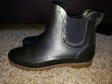 Western Chief Low Rubber Boots Sz 7 Women's Black Slip-On