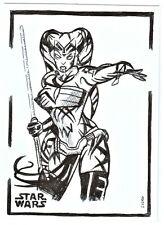 ACEO Sketch Card Star Wars Darth Talon Sith (ink) B
