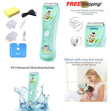 Baby Kids Hair Clipper Trimmer Cordless Quiet Safe Health Chargeable Waterproof