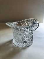 Brilliant Clear Vintage Indiana Glass Top Hat Toothpick Holder Excellent