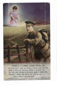 BAMFORTH SONG CARD - There's A Long Long Trail (3) /BM-017