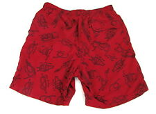 Mens LL Bean Nautical Knots Sailing Swim Trunks Bathing Suit Shorts Lined Small