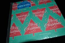 Vintage Bible Text  Paper Gift Wrap LUKE 2:14  2 Sheets MERRY CHRISTMAS NIP