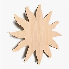 10x Wooden Sun Shape PlainTags Blank Hanging Decoration Wood Shapes (X71)