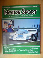 Motor Sport Magazine- Track Test Formula Three Ralt, November 1986
