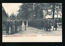 Belgium BOURG-LEOPOLD Military Camp de Beverloo soldiers parade c1902 u/b PPC