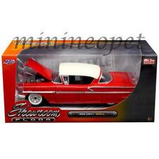 JADA 98896 SHOWROOM FLOOR 1958 CHEVROLET IMPALA 1/24 DIECAST MODEL CAR RED