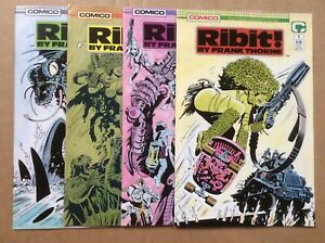 Comico RIBIT by Frank Thorne 1-4 FN 1989 COMPLETE