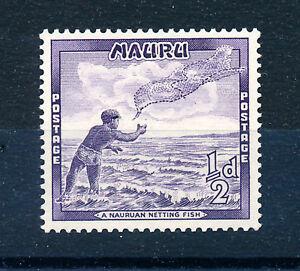 NAURU 1954 DEFINITIVES SG48a ½d violet  MNH