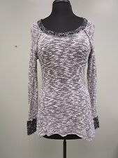 Guess Los Angeles Sweater Pullover Cotton Blend Gray/Black Women's Size S Euc