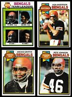 1979 Topps Football Cincinnati Bengals Complete Team Set - (24) Cards
