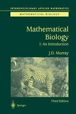 Introduction to Mathematical Biology: By James Dickson Murray, J D Murray