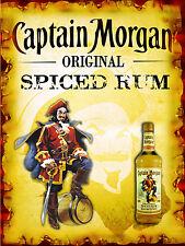 Captain Morgan Spiced Rum Retro Metal Sign/plaque Pub Bar Man Cave Wall
