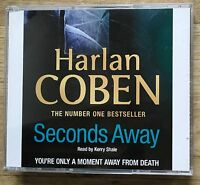AUDIO BOOK Harlan Coben SECONDS AWAY read by Kerry Shale on 4 x CDs