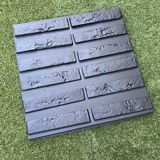 *OXFORD* Set of 12 Molds Brik VENEER for Concrete Plaster Wall Stone Brick Tiles