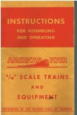 "INSTRUCTIONS FOR ASSEMBLING & OPERATING AMERICAN FLYER 3/16"" TRAINS - PUB. 1954"