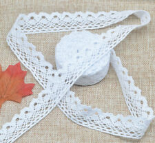 5 Yards White Cotton Crochet Lace DIY Craft Trim Home Sewing Fabric Wide 25mm