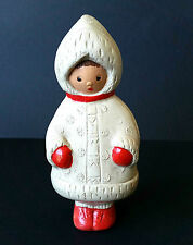 1950s Ussr Russian Soviet Rubber Doll Little Girl in Winter Clothes