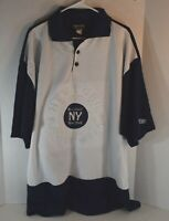 Baseball NY New York BASE Men's Size XXL Polo Embroidered Logo Shirt