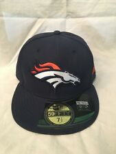 Denver Broncos NEW Size 7 3/8 Fitted On Field Hat . NFL Football NWT Cap Mens