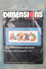 Stamped Cross Stitch Dimensions Teddy Playmates Sealed Kit 1986 Michael Hague