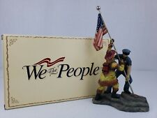 We The People Raising The Flag American Firefighter Police Figurine Statue 9/11