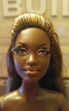 Barbie Doll African American  NUDE DOLL MODEL MUSE ROOTED LASHES DARK SKIN TONE