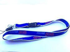 JDM SUBARU STI LANYARD KEYCHAIN IMPREZA WRX BRZ GD8 WRC FIA RALLY BLUE (D8)
