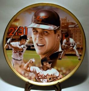 "Cal Ripken Jr Baseball Record Breakers 1995 Bradford Exch LE 8"" Collectors Plate"