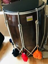 More details for dhol drum hand made indian with bag & drum sticks
