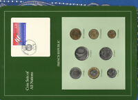 Coin Sets of All Nations France French 1986 -1989 UNC 2 Francs 1989 LOW 83000