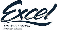 Excel Limited Edition RV LOGO Lettering decal Dark Blue or any Color!
