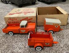Vintage Original Nylint Uhaul Pickup Truck Set With  Box  Pressed Steel Toy