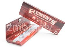5x Packs ( Elements Red 1 1/4 1.25 ) Hemp Pure Rolling Papers Paper Slow Burning