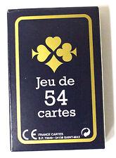Jeu de 54 cartes :  France Carte Cadeaux Fête Gauloise Bleue ou rouge