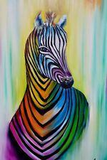 Zebra painting,modern zebra wall art,animal painting, wildlife paintings