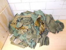 LEATHER REMAINS offcuts Craft 2 Silt Green Tones approx. 6,6 kg (R128)