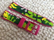 """NEW SWATCH SCUBA LIBRE BRACELET STRAP BAND 21MM """"CAPINK"""" SUUP101 ASUUP101"""